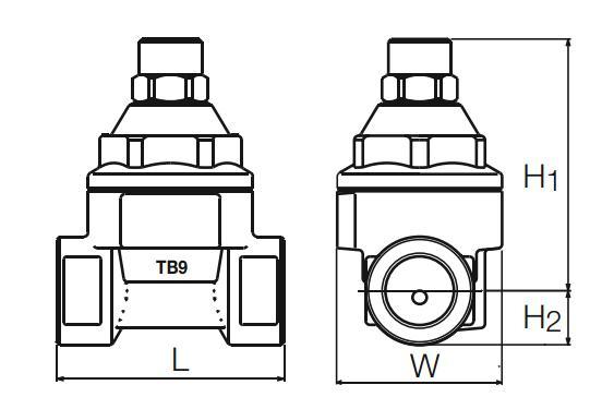TB9蒸汽疏水阀外形尺寸